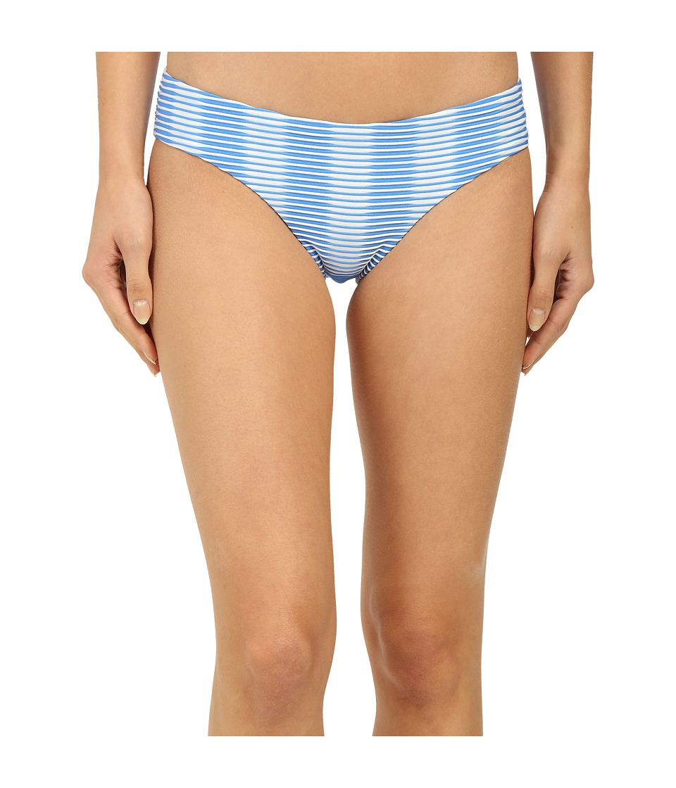 Shoshanna - Ombre Textured Stripe Hipster Bottoms (Blue/White) Women's Swimwear