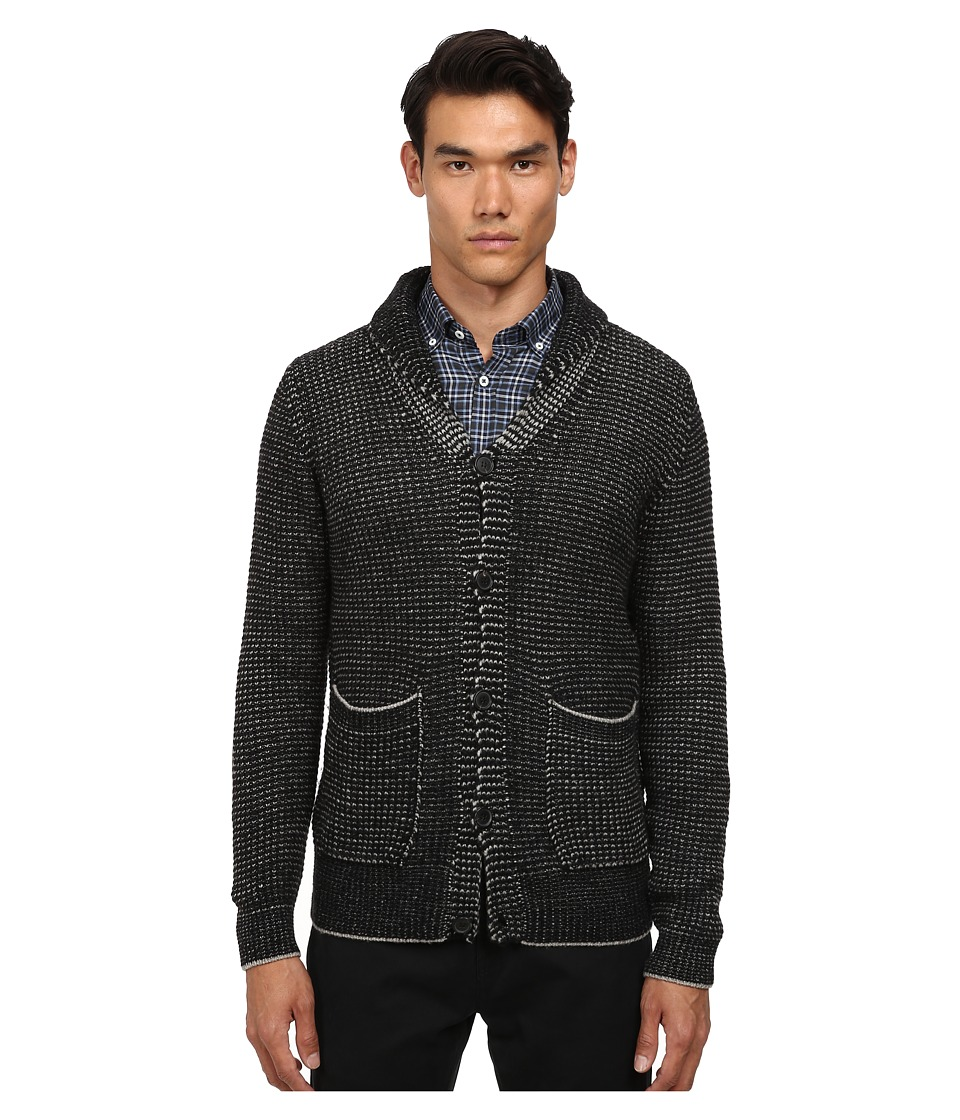 Billy Reid - Shawl Cardigan Sweater (Black/Grey) Men's Sweater plus size,  plus size fashion plus size appare