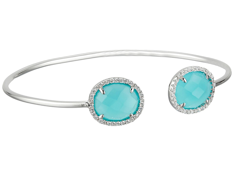 Dee Berkley - Sterling Silver and CZ Bangle (Blue) Bracelet