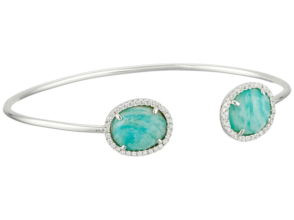 Dee Berkley - Sterling Silver and CZ Bangle (Blue 1) Bracelet