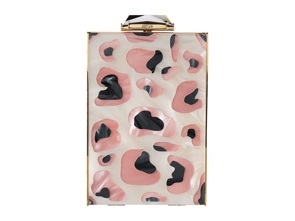 KOTUR - Bacall Leopard (Pink) Clutch Handbags