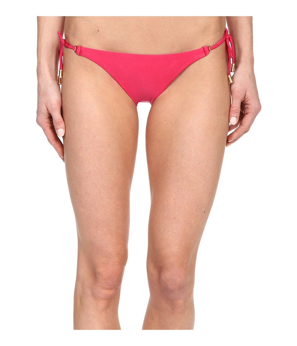 Vix - Lucy Long Tie Full Bottom (Solid Raspberry) Women's Swimwear