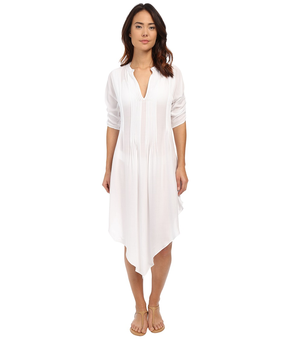 Vix Thai Tunic Cover-Up (Solid White) Women