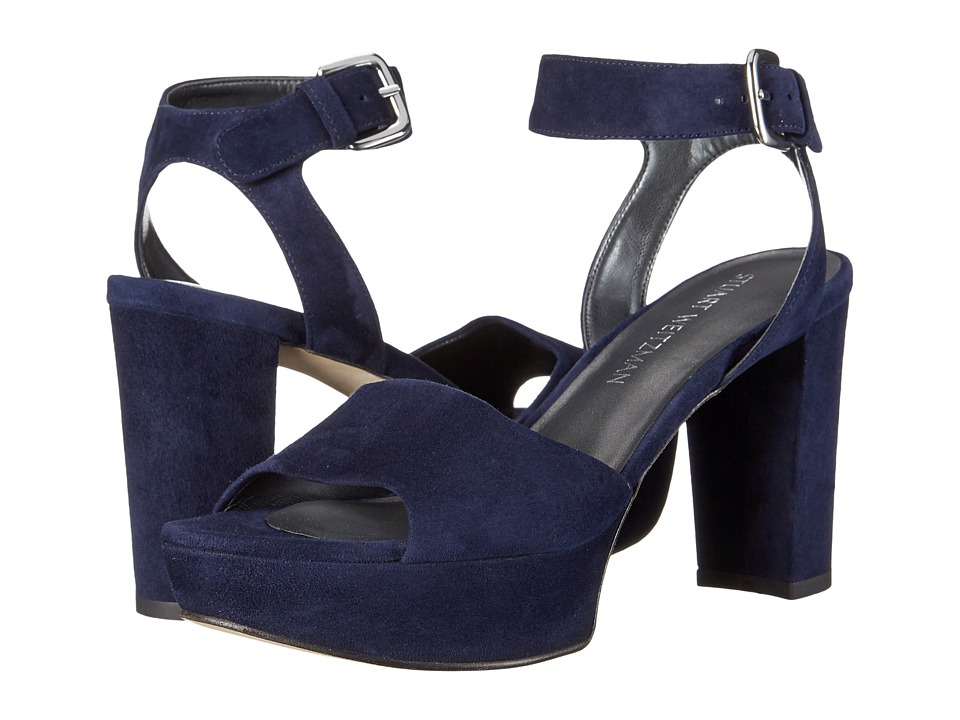 Stuart Weitzman Realdeal Niceblue Suede Womens Wedge Shoes