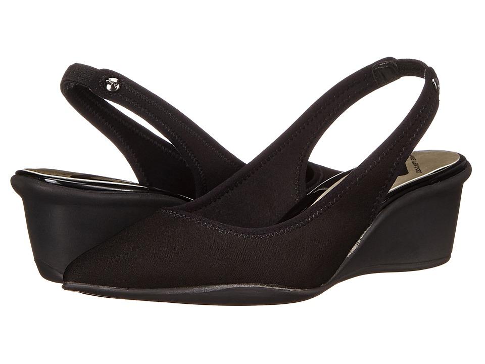 Anne Klein - Rampup (Black Multi Fabric) Women's Wedge Shoes