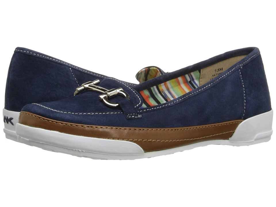 Anne Klein - Tameron (Navy/Cognac Nubuck) Women's Flat Shoes