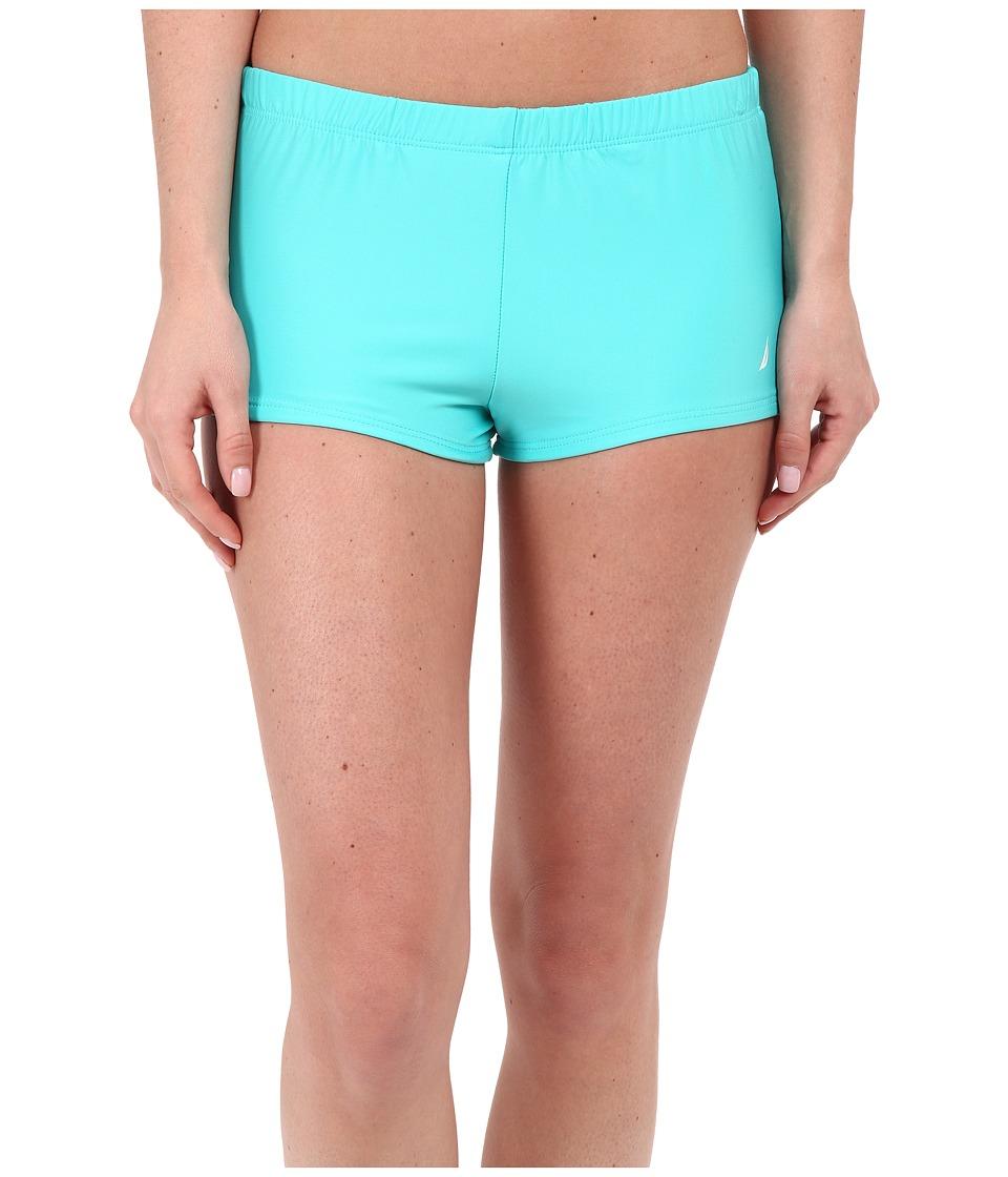 Nautica - Signature Boyshorts NA27376 (Aqua) Women's Swimwear
