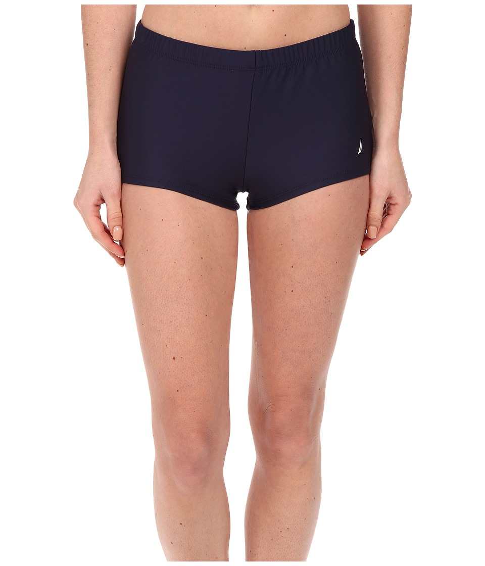 Nautica - Signature Boyshorts NA27376 (Navy) Women's Swimwear