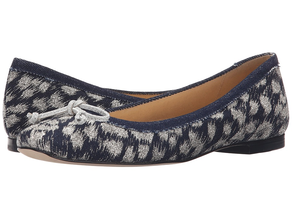 Stuart Weitzman - Shoestring (Navy Galaxy Denim) Women's Slip on Shoes