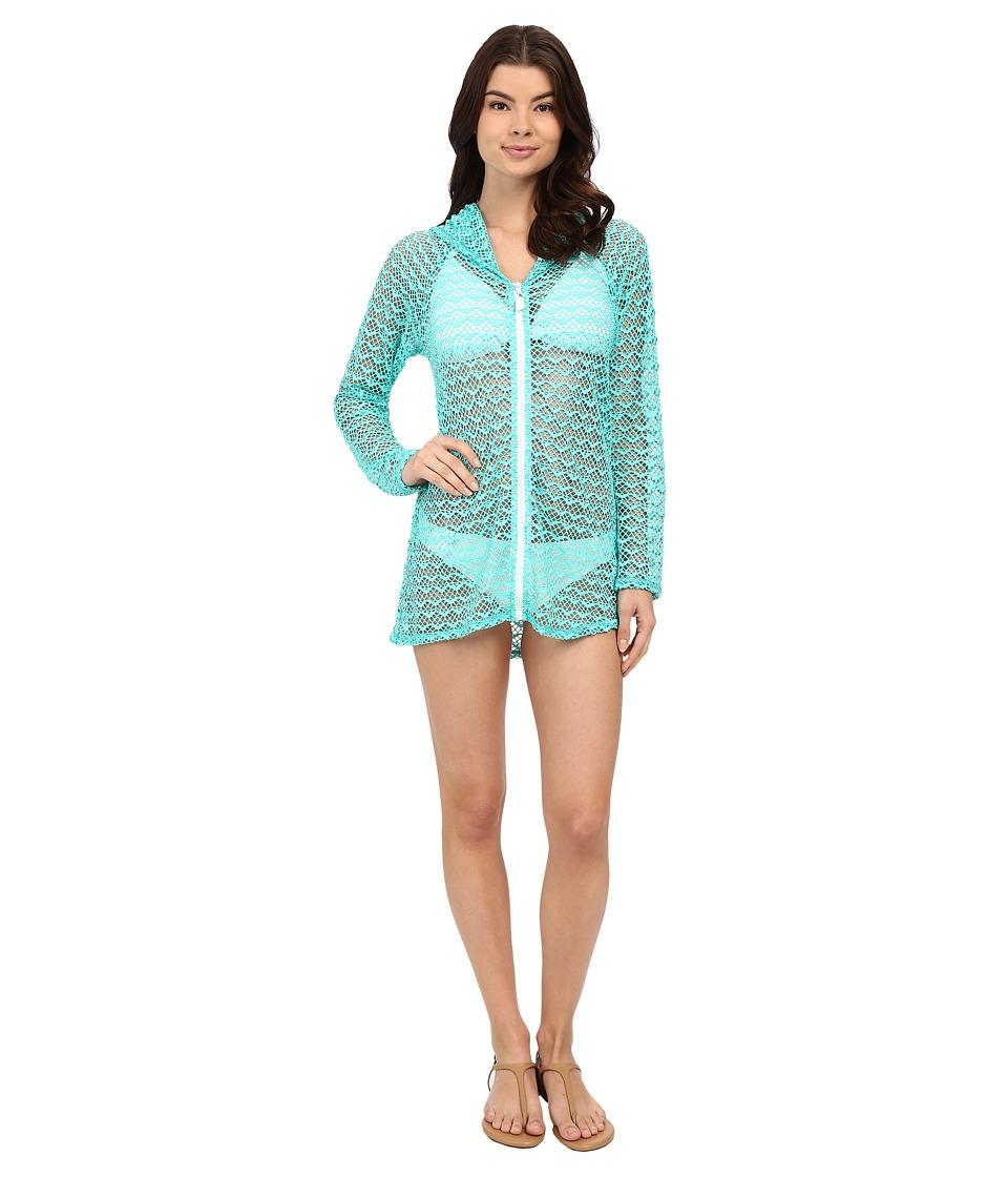 Nautica Absolutely Shore Hooded Long Sleeve Tunic NA24706 (Aqua) Women