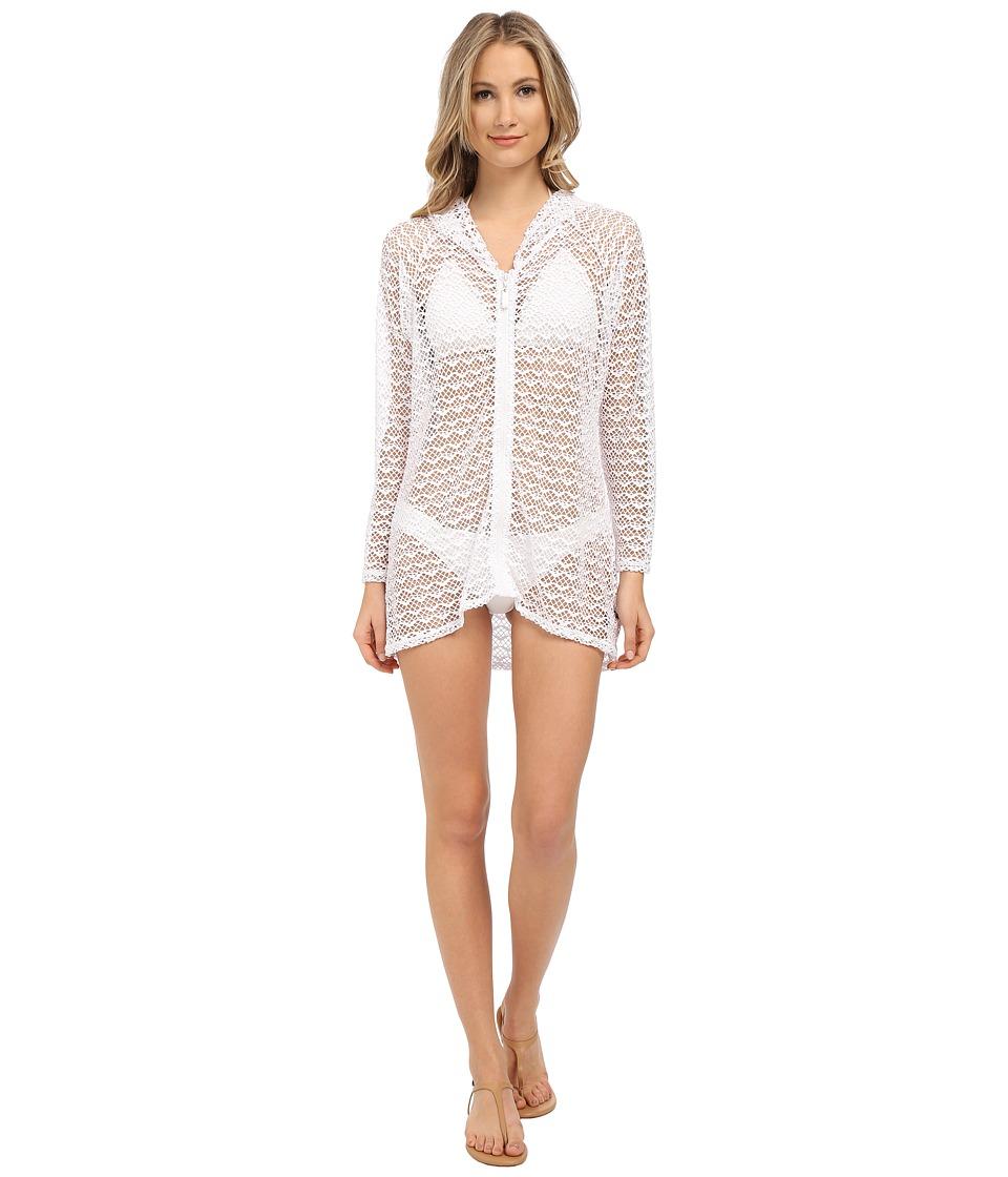 Nautica Absolutely Shore Hooded Long Sleeve Tunic NA24706 (White) Women