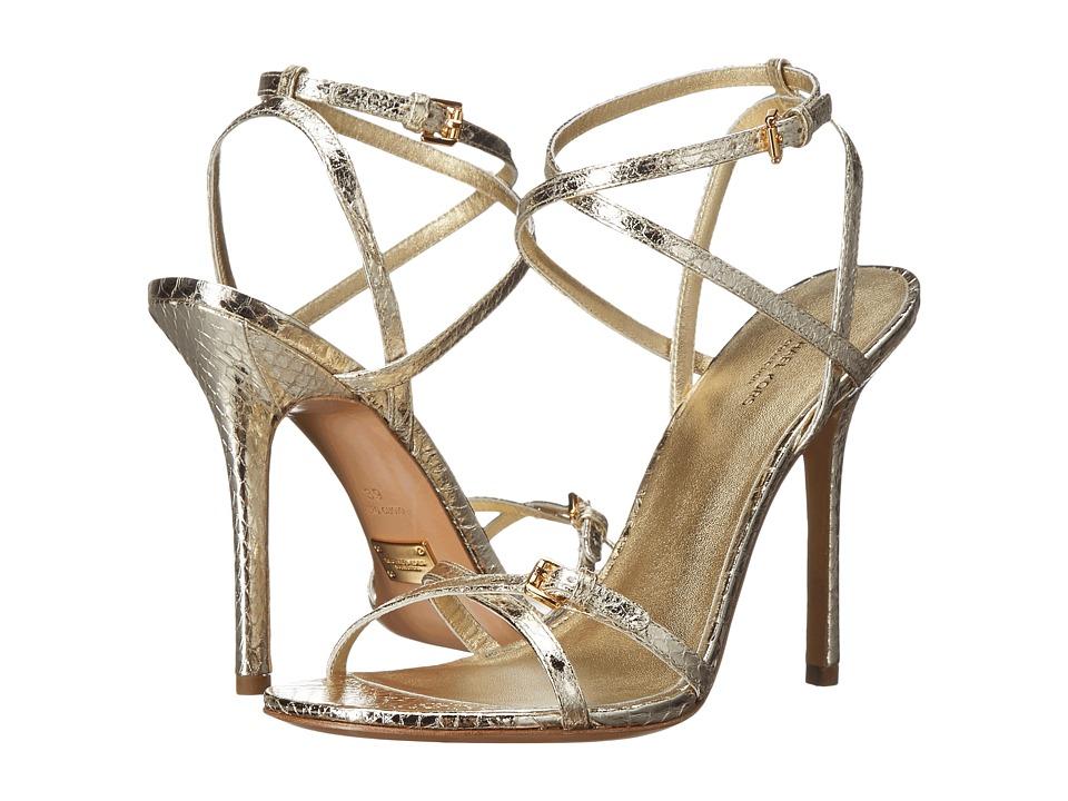 Michael Kors - Jennie (Pale Gold Specchio Genuine Snake) Women's Slip on Shoes