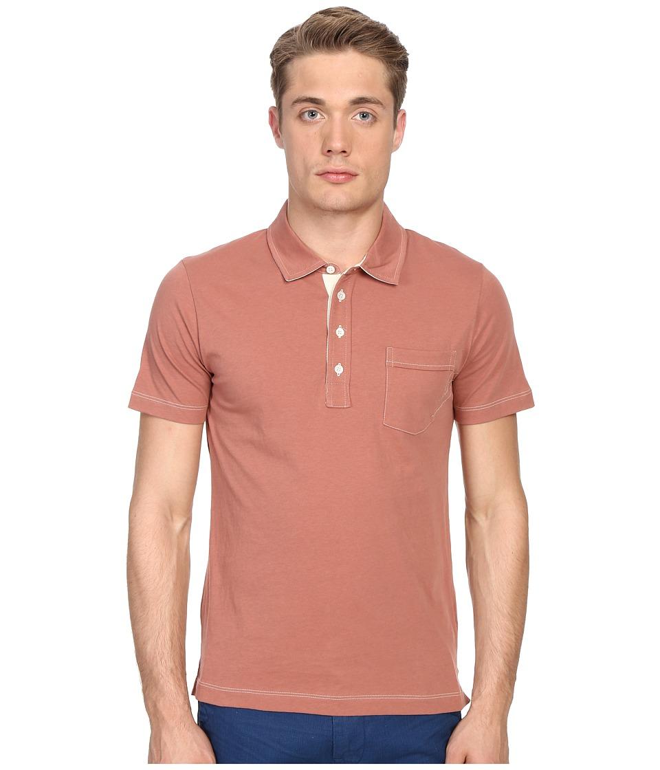 Billy Reid - Pensacola Polo (Terra Cotta) Men's Clothing