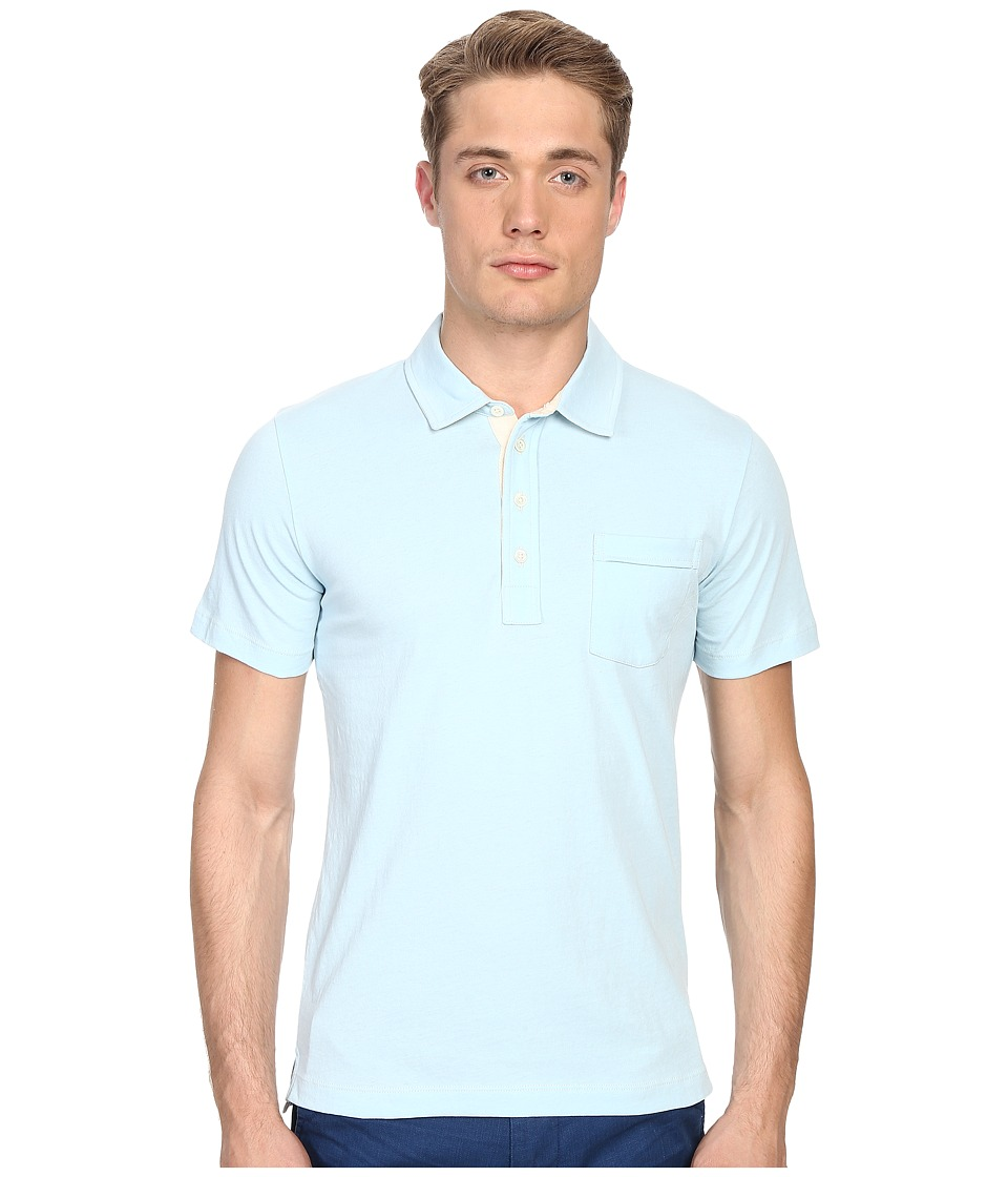 Billy Reid - Pensacola Polo (Aqua) Men's Clothing