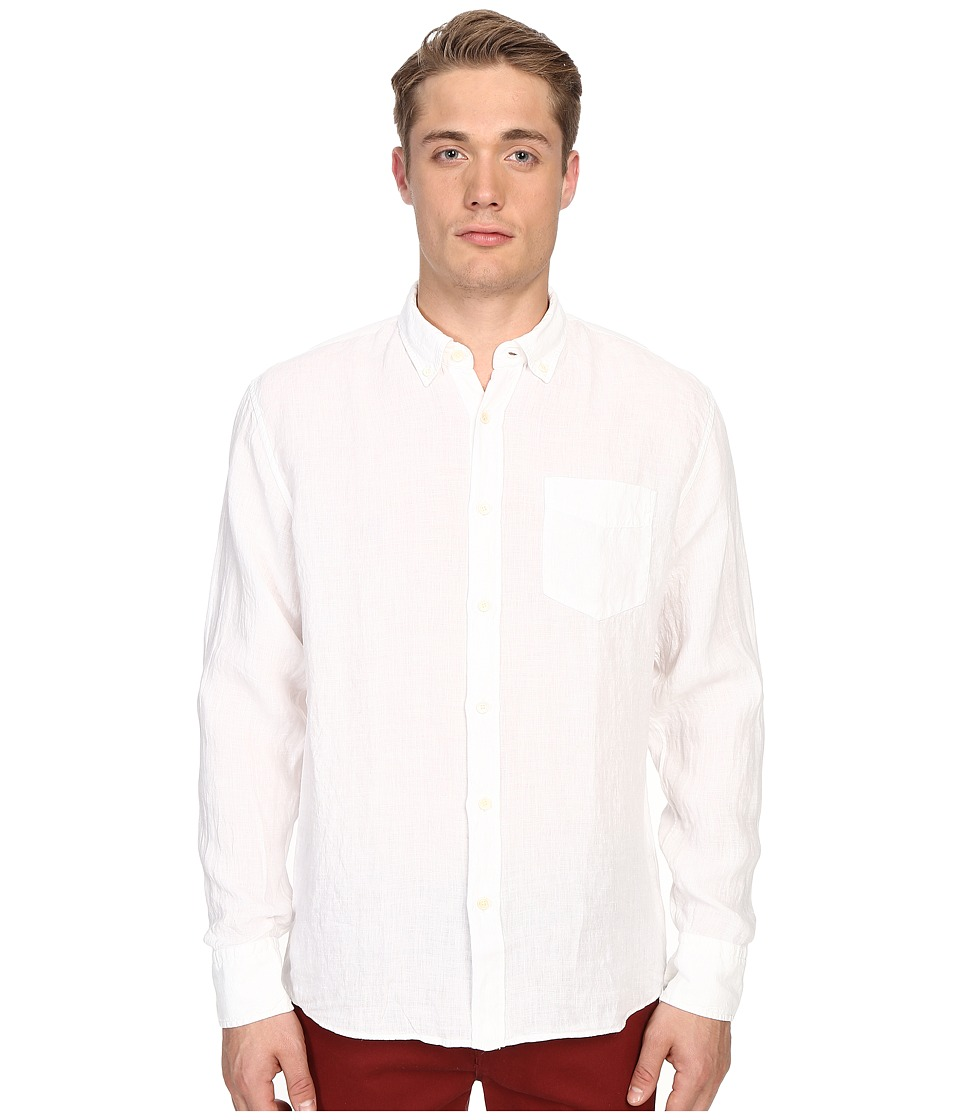 Billy Reid - Johnathon Shirt (White) Men's Clothing