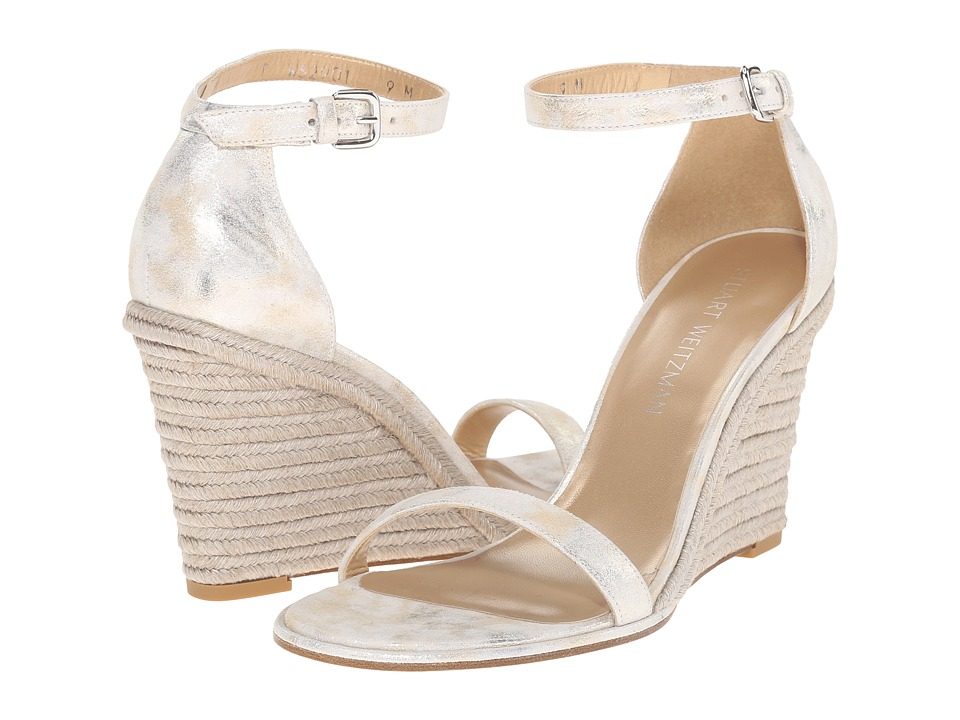 Stuart Weitzman - Walkway (Pale Gold Clouded Nappa) Women