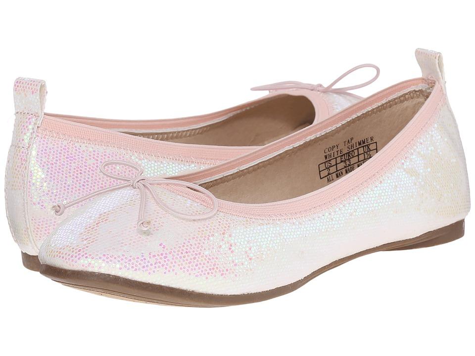 Kenneth Cole Reaction Kids - Copy Tap (Little Kid/Big Kid) (White Shimmer) Girls Shoes
