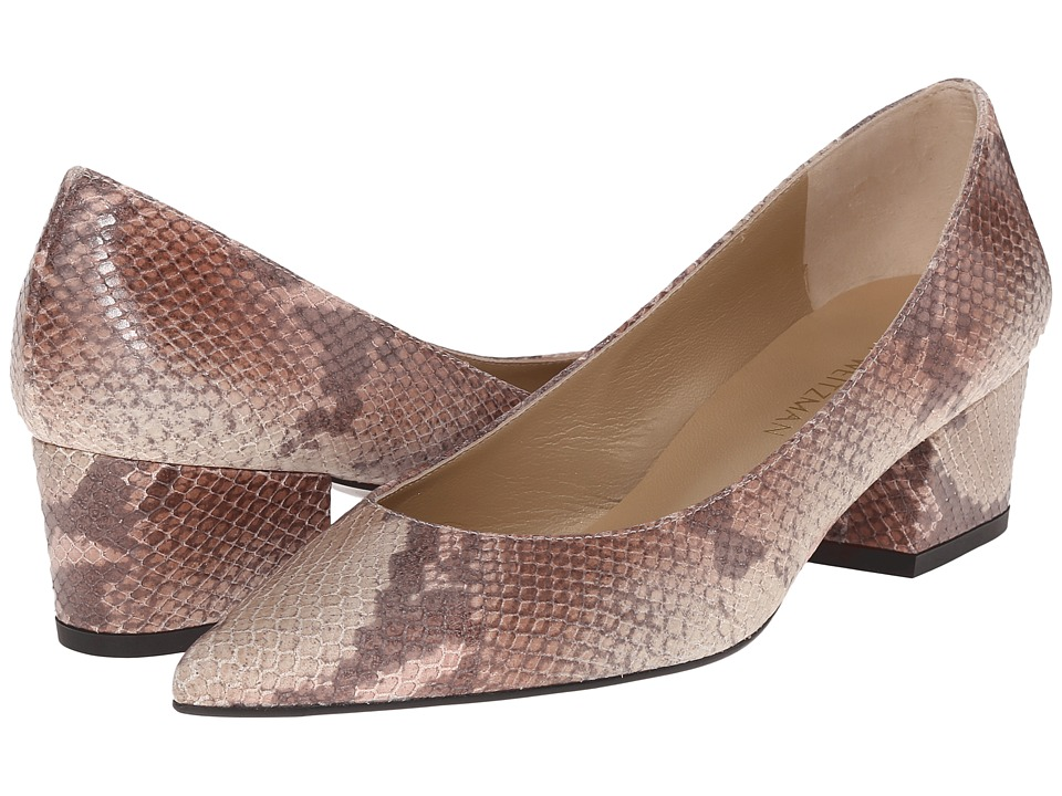 Stuart Weitzman - Largo (Naked Ombre Python) Women's 1-2 inch heel Shoes