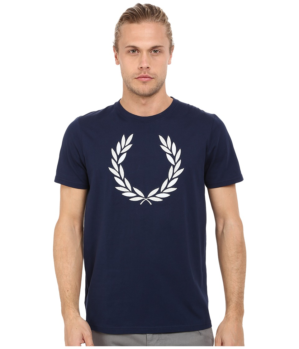 Fred Perry - Textured Laurel Wreath T-Shirt (Carbon Blue) Men's T Shirt