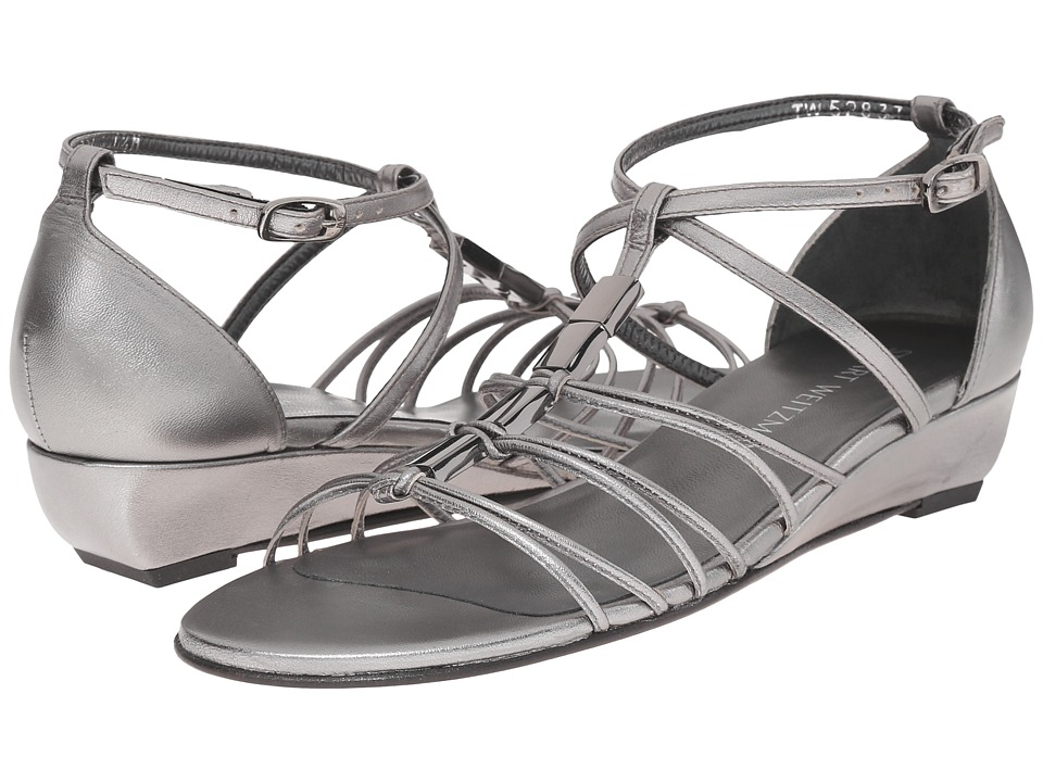 Stuart Weitzman Lowlight Pewter Nappa Womens Shoes