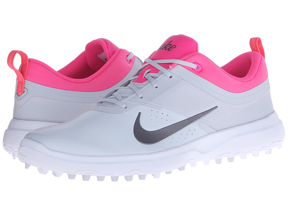 Nike Golf - AKAMAI (Pure Platinum/Metallic/Cool Grey) Women's Golf Shoes