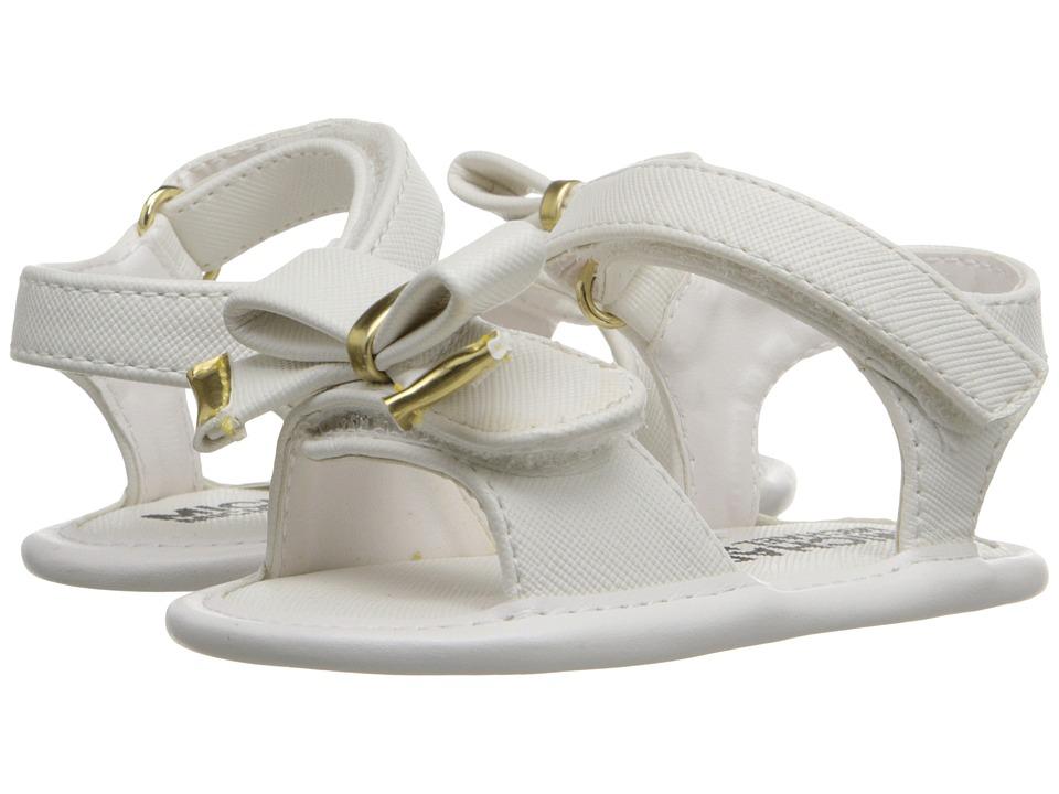 MICHAEL Michael Kors Kids - Baby Joy Kiera (Infant/Toddler) (White) Girl's Shoes