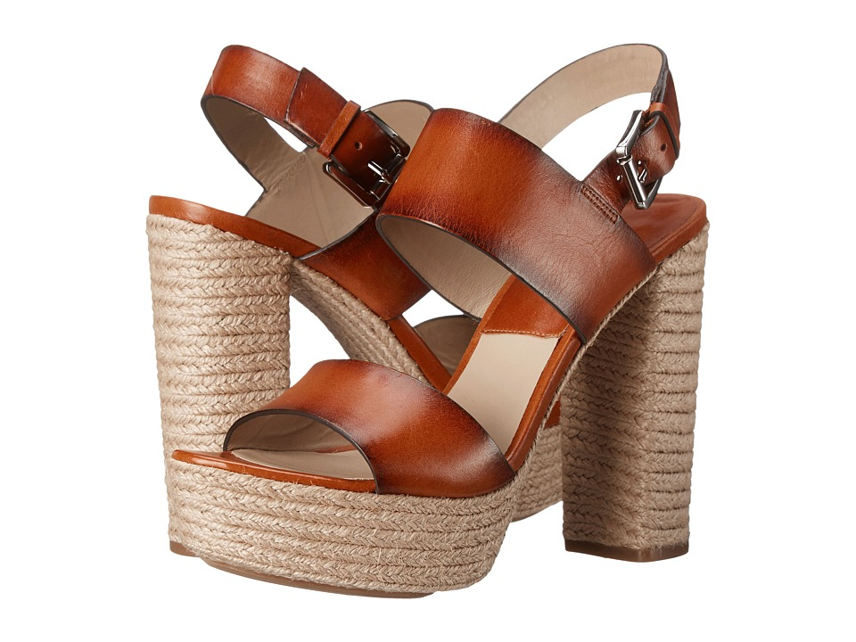Michael Kors - Summer (Luggage Burnished Vachetta/Jute) High Heels