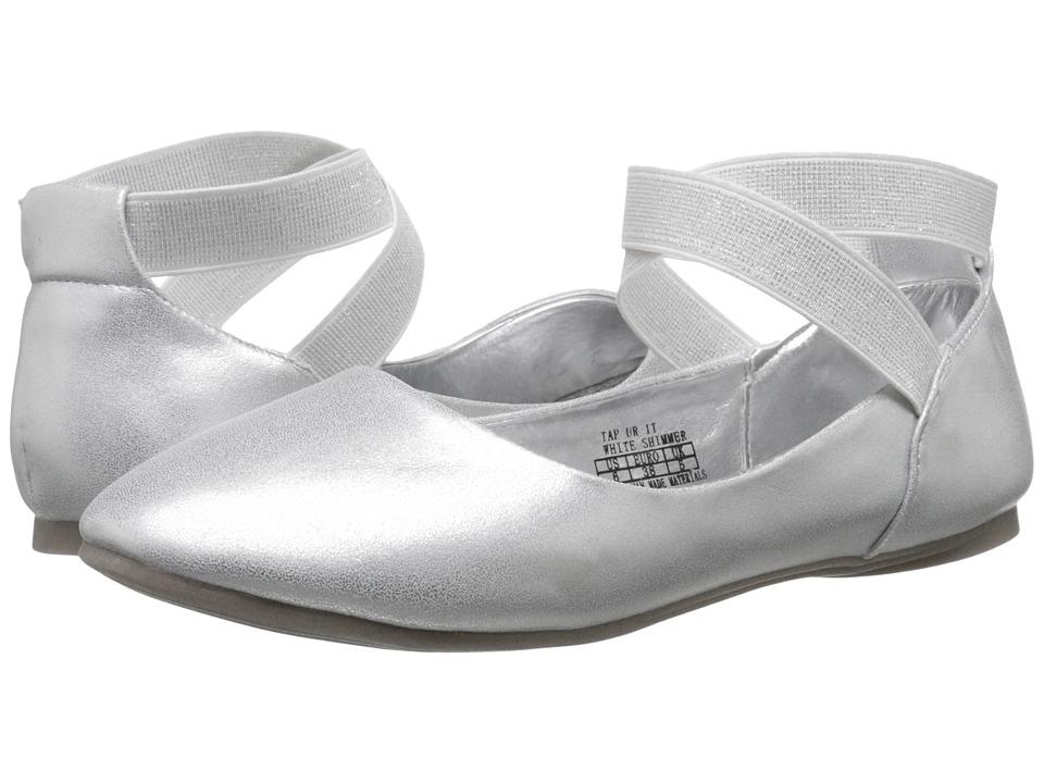 Kenneth Cole Reaction Kids - Tap UR It (Little Kid/Big Kid) (White Shimmer) Girls Shoes