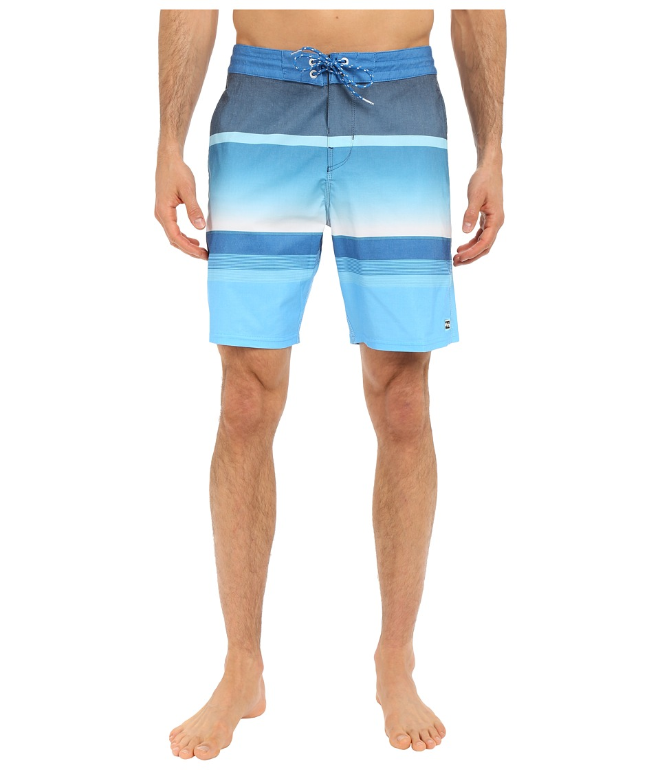 Billabong - Spinner Lo Tides 19 Boardshorts (Blue) Men's Swimwear