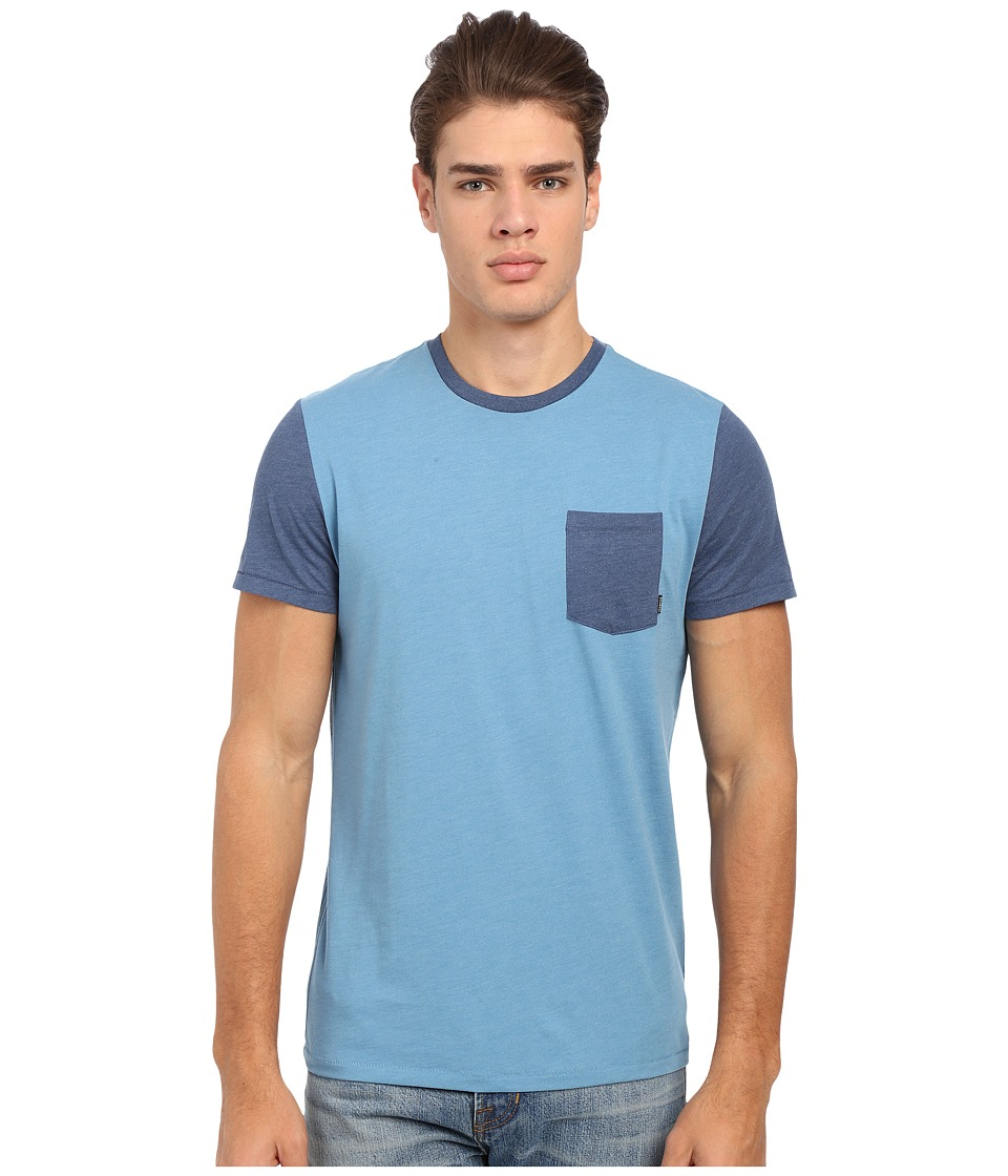 Billabong - Zenith Essenital Crew (Blue Heather) Men's T Shirt