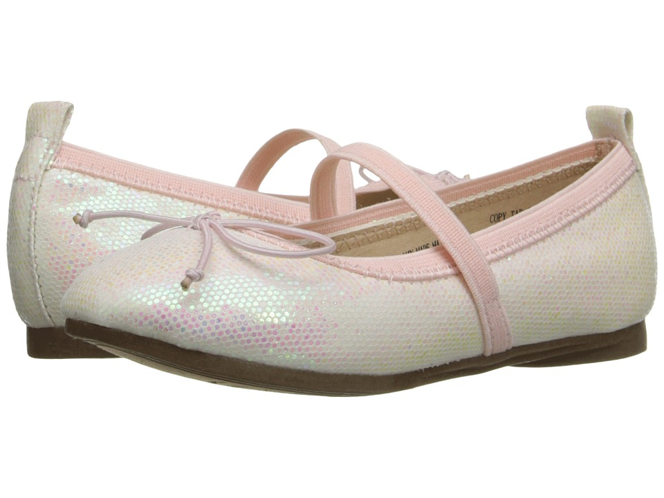 Kenneth Cole Reaction Kids - Copy Tap 2 (Toddler/Little Kid) (White Shimmer) Girls Shoes
