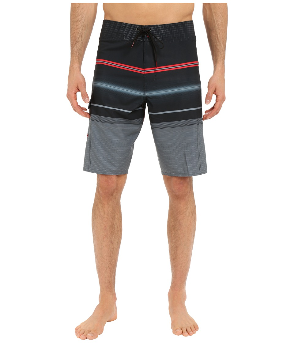 Billabong - All Day Stripe 21 Boardshorts (Grey) Men's Swimwear