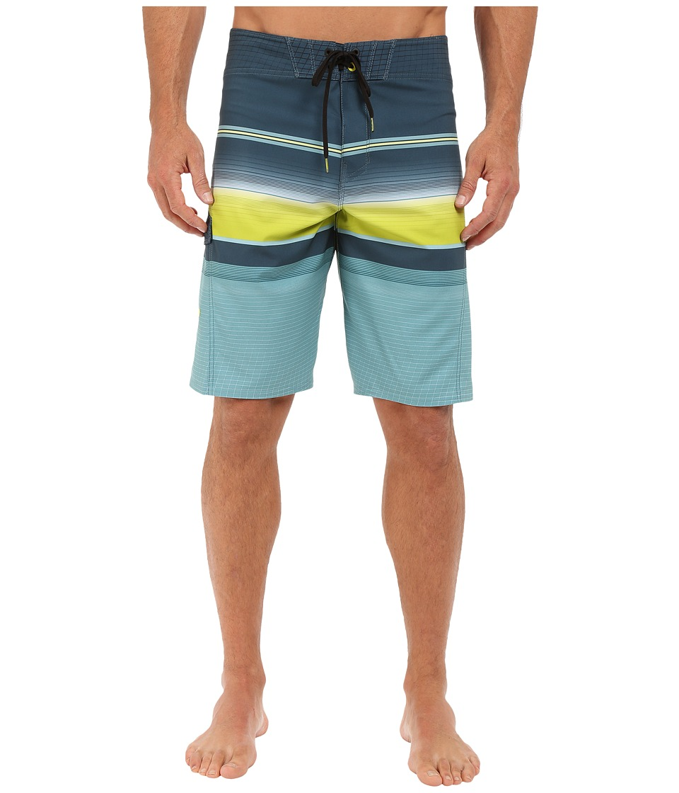 Billabong - All Day Stripe 21 Boardshorts (Lime) Men's Swimwear