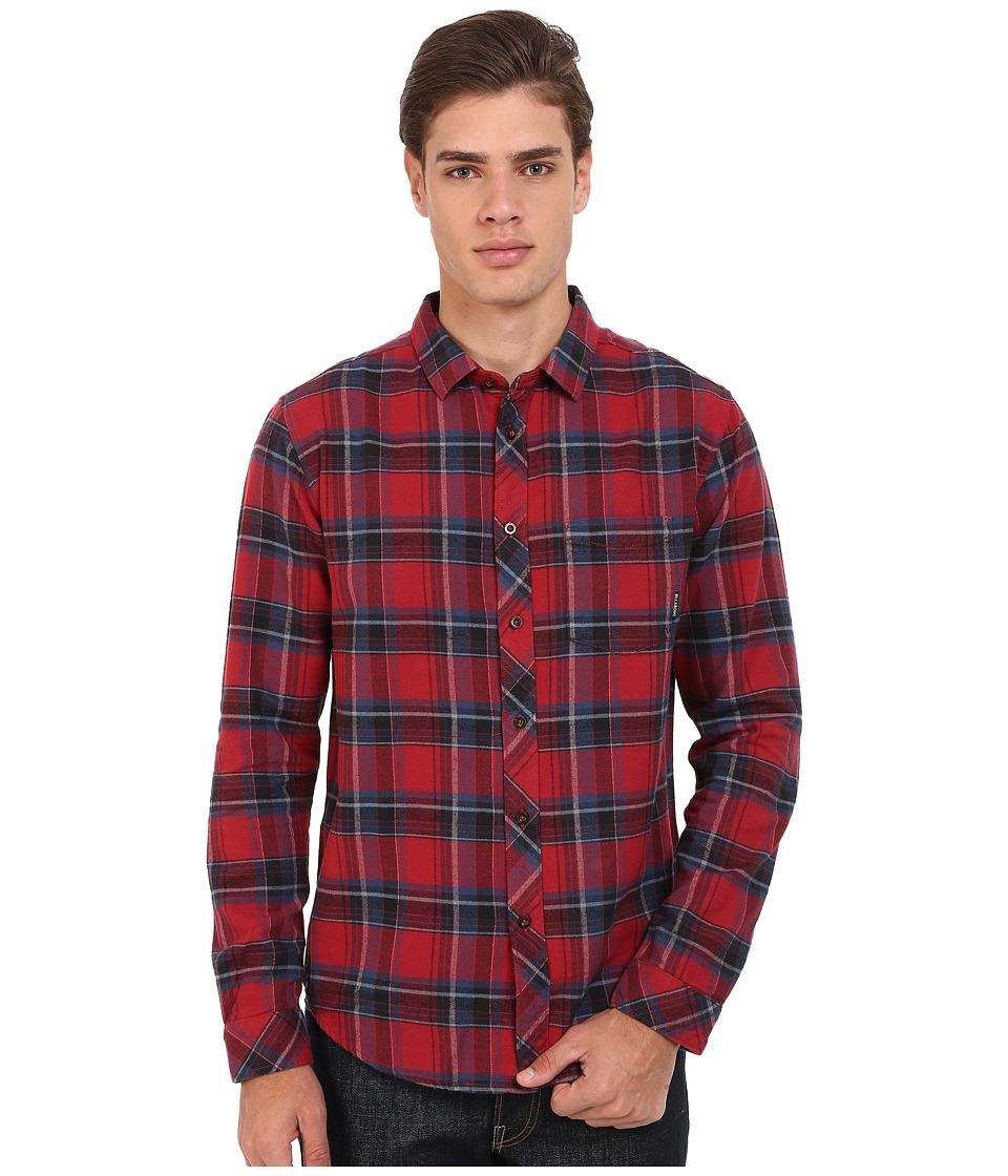 Billabong - Coastline Flannel (Red) Men's Clothing