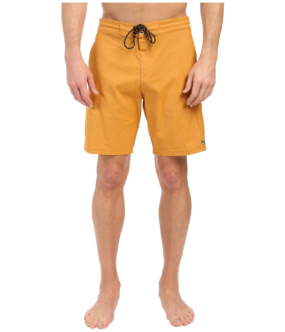 Billabong - All Day Lo Tides 19 Boardshorts (Mustard) Men's Swimwear