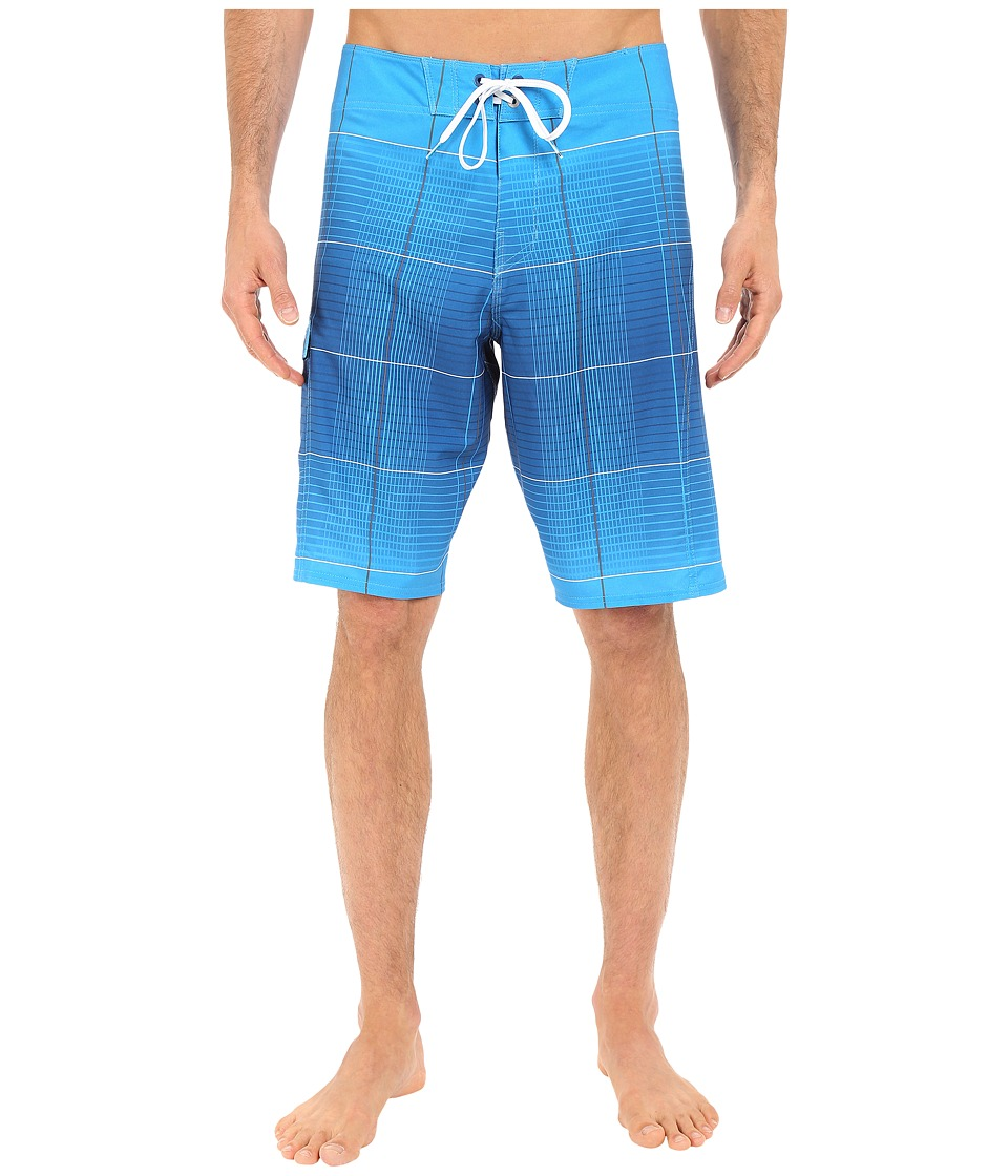 Billabong - All Day X Plaid 21 Boardshorts (Blue) Men's Swimwear