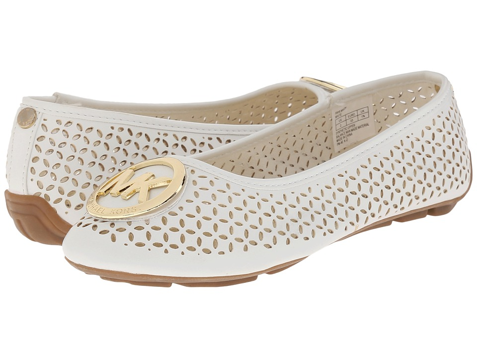 MICHAEL Michael Kors Kids - Faye Maisy (Little Kid/Big Kid) (White) Girl's Shoes