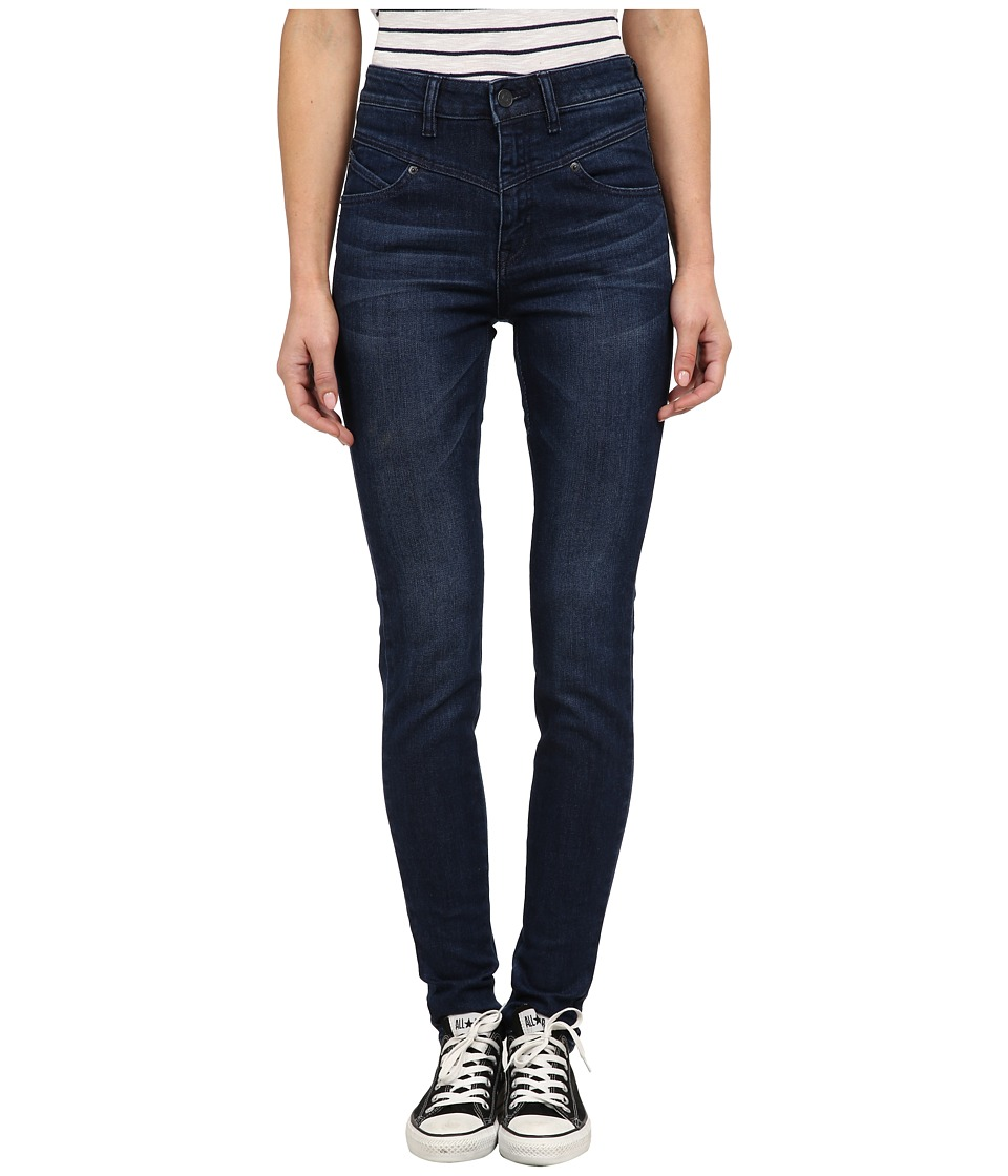 Volcom - High Waisted Skinny (Double Down Indigo) Women's Clothing