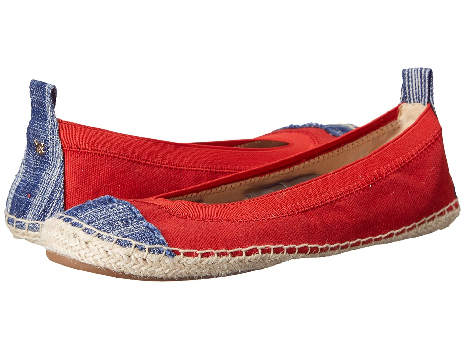 Yosi Samra - Lulu (Engine Red/Mezzo Blue) Women's Flat Shoes