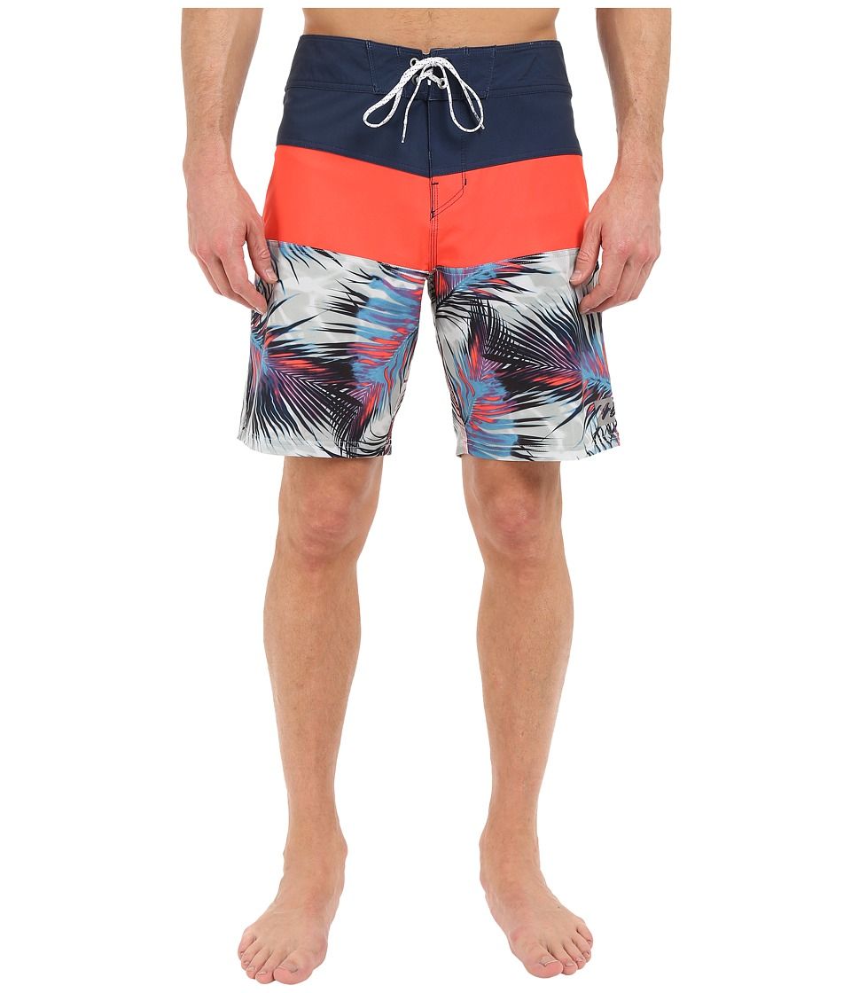 Billabong - Tribong X Fronds 19 Boardshorts (Neo Red) Men's Swimwear