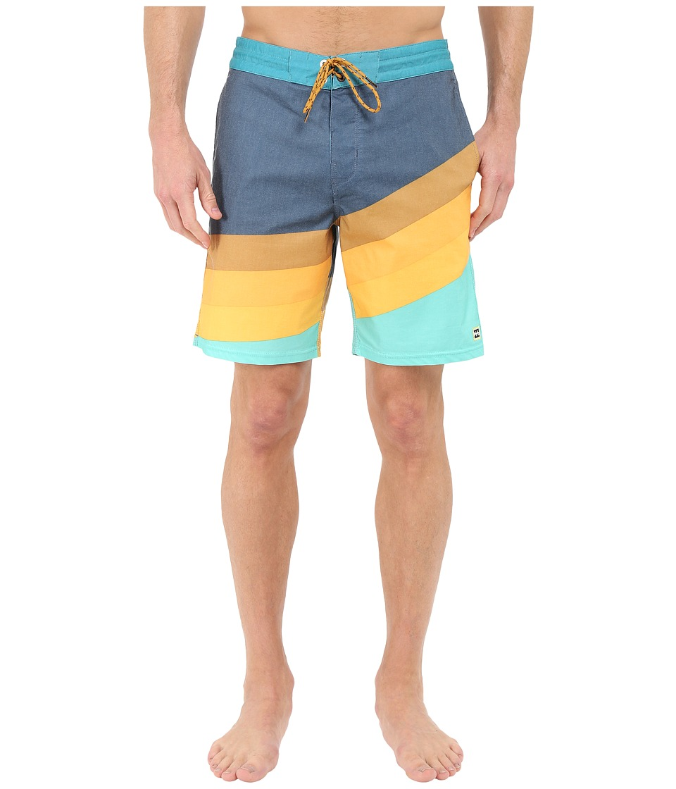 Billabong - Slice Lo Tides 19 Boardshorts (Aqua) Men's Swimwear