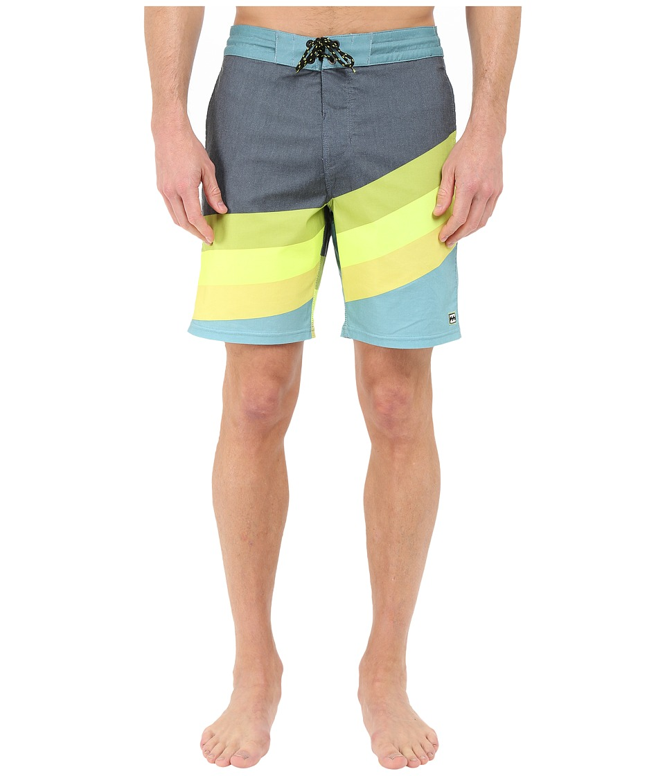 Billabong - Slice Lo Tides 19 Boardshorts (Lime) Men's Swimwear