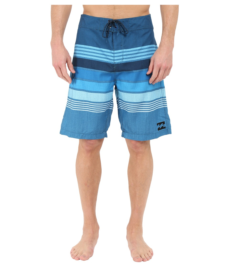 Billabong - All Day Stripe 21 Boardshorts (Blue) Men's Swimwear