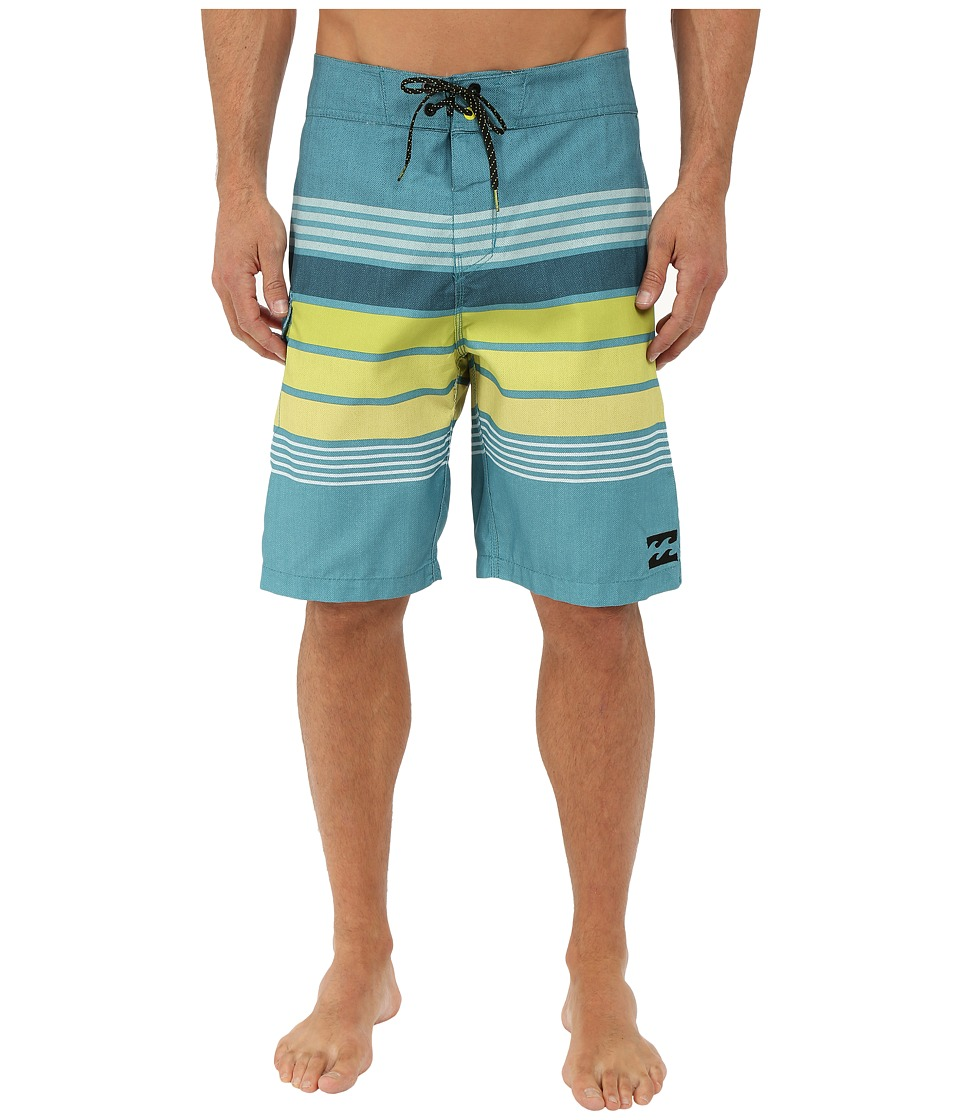 Billabong - All Day Stripe 21 Boardshorts (Overcast) Men's Swimwear