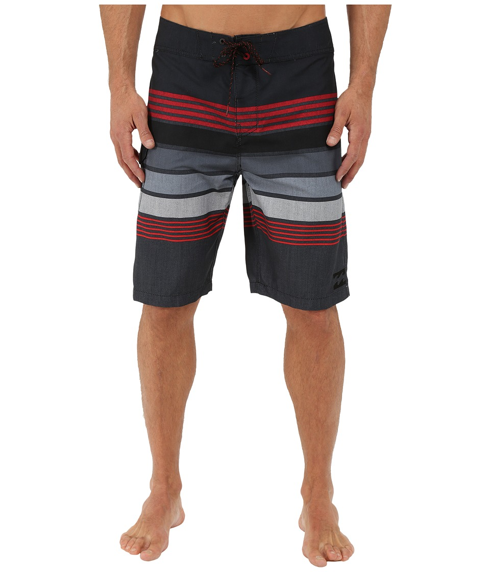 Billabong - All Day Stripe 21 Boardshorts (Stealth) Men's Swimwear