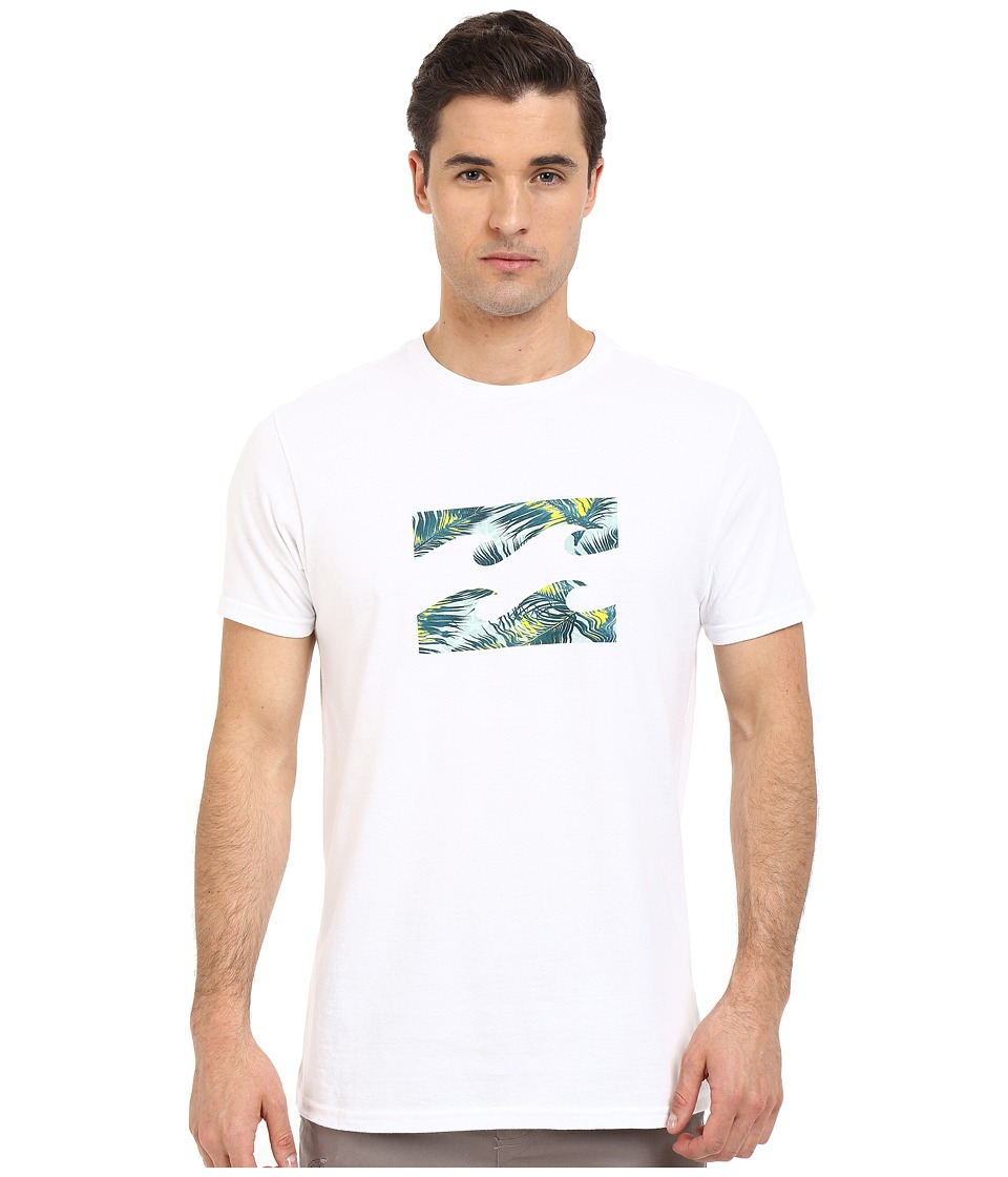 Billabong - Team Wave Tee (White Lime) Men's Short Sleeve Pullover