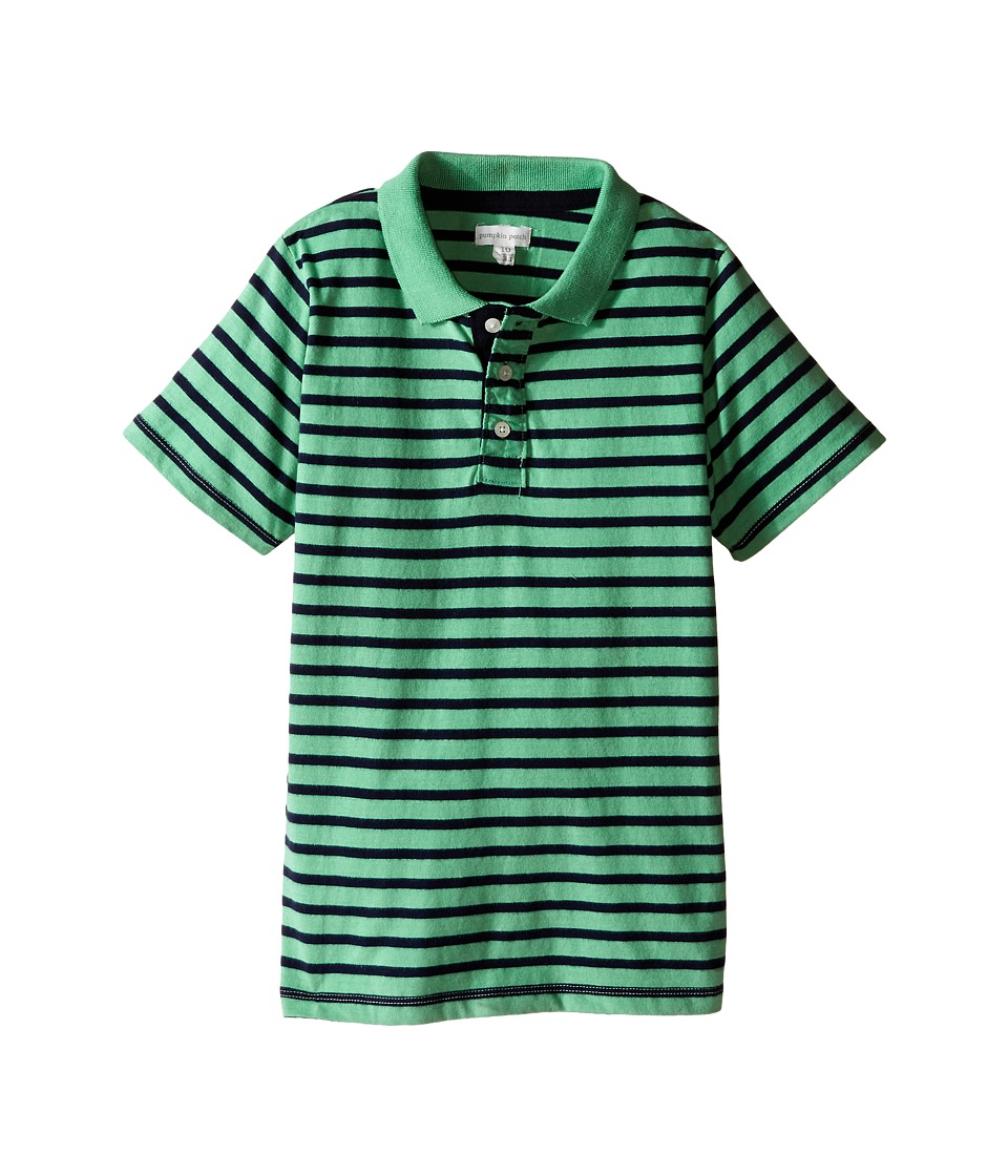 Pumpkin Patch Kids - Core Essentials Logan Polo (Infant/Toddler/Little Kids/Big Kids) (Pea Pod) Boy's Short Sleeve Knit