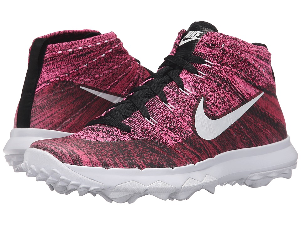 Nike Golf - FI Flyknit Chukka (Pink Pow/White/Black) Women's Golf Shoes