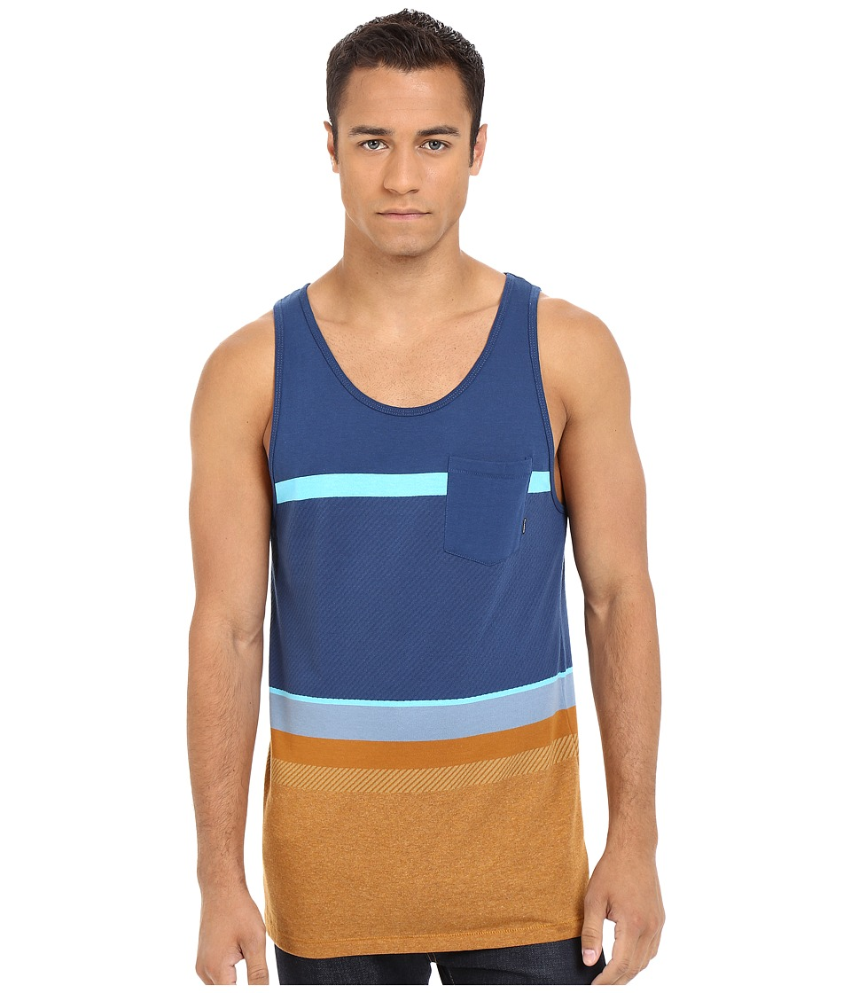 Billabong - Spinner Tank Top (Indigo) Men's Sleeveless