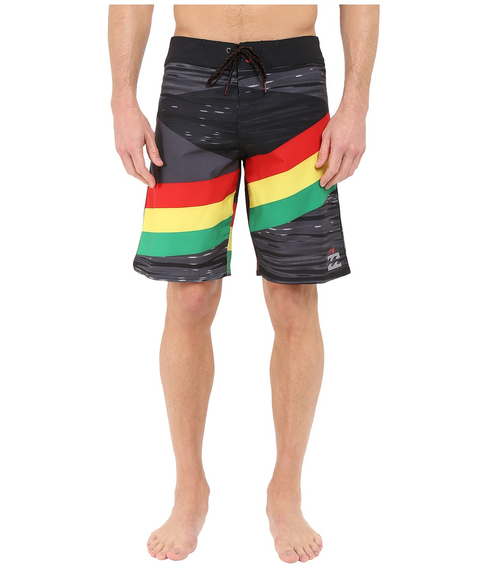 Billabong - Slice X 20 Boardshorts (Rasta) Men's Swimwear